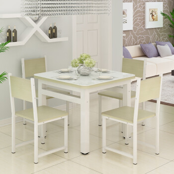 glass top kitchen table commercial kitchens 现代简约钢化玻璃桌小户型家用餐桌客厅厨房正方形4 6人四方桌子圆角80 80 6人