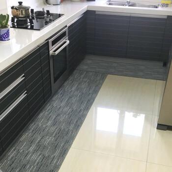 grey kitchen rugs faucets for 厨房地毯长条耐脏地垫吸水吸油环保乳胶底垫尺寸可定做灰色折子纹pvc底 厨房地毯长条耐脏地垫吸水吸油环保乳胶底垫尺寸可