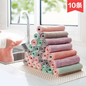 bulk kitchen towels custom kitchens 10条装加厚吸水抹布不沾油清洁布洗碗巾厨房不掉毛擦碗毛巾洗碗布gl 14 10条装加厚吸水抹布不沾油清洁布洗碗巾厨房