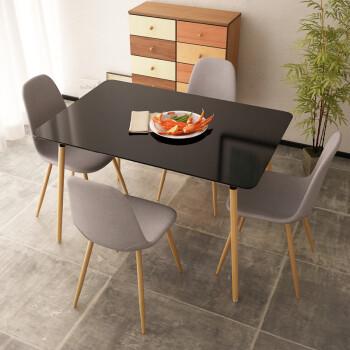 black kitchen table and chairs double bowl sink 伊姆斯桌子小方桌洽谈桌厨房长方形餐桌椅组合个性会议桌小咖啡桌黑色 伊姆斯桌子小方桌洽谈桌厨房长方形餐桌椅组合个性会议