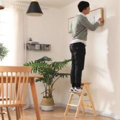 Modern Kitchen Stools Farm Style 瀚木堂实木折叠凳子家用梯凳简约现代人字梯子便携坐梯折叠凳多功能创意 瀚木堂实木折叠凳子家用梯凳简约现代人字梯子便携坐