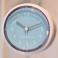 Blue Kitchen Wall Clocks Planning 光迅迷你浴室钟家用厨房石英钟防水钟表吸盘冰箱钟创意简约现代小挂钟蓝色 光迅迷你浴室钟家用厨房石英钟防水钟表吸盘冰箱钟创意简约现代