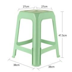 Kitchen Stool Tile Floor 茶花塑料凳子厨房凳子加厚凳方凳板凳餐桌凳家用凳办公塑料凳绿色十张 茶花塑料凳子厨房凳子加厚凳方凳板凳餐桌凳家用凳办公