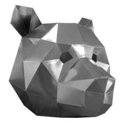 Origami Folding Kitchen Island Cart Backsplash Tile Ideas For 熊猫头套动物面具折纸派对店铺装饰道具创意纸模手工diy摆设儿童全银色 熊猫头套动物面具折纸派对店铺装饰道具创意纸模手工diy摆设儿童