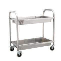 Kitchen Serving Cart Bar Chairs 煜亭 Yu Ting Yt 方管不锈钢收碗车二层服务车厨房餐车热瓶车不锈钢收 方管不锈钢收碗车二层服务