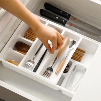kitchen divider remodel las vegas 韩国进口抽屉收纳盒整理盒餐具收纳盒厨房分隔餐具塑料整理盒 图片价格