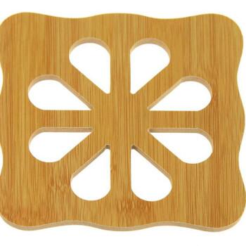 kitchen hot pads slim trash can for 家英卡通造型竹质隔热垫厨房防烫锅垫餐厅创意杯垫餐桌垫梅花形 图片价格 家英卡通造型竹质隔热垫厨房防烫锅垫餐厅创意