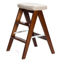 Wood Kitchen Chairs Propane Stove 简域 Sd 凳子木椅子家用厨房凳梯凳折叠餐椅子hlm 3006 棕架 灰色麻布 凳子木椅子家用厨房凳梯凳折叠餐椅子