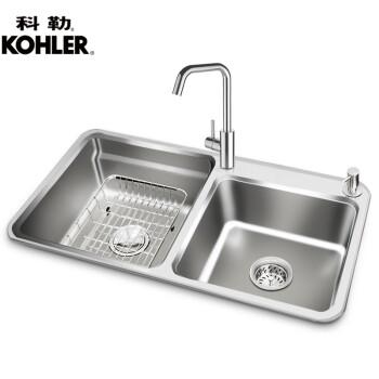 square kitchen sink loud timer 科勒 kohler 厨房水槽双槽洗菜盆洗碗槽304不锈钢水槽98683t 水槽 厨房水槽双槽洗菜盆洗碗槽304不锈钢