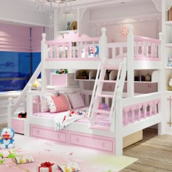 Kitchen Drawer Slides Turquoise Appliances 上下床双层床母子床全实木高低床公主上下铺 上下床 床板 挂梯 抽屉 梯柜 上下
