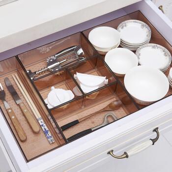 kitchen divider modern knobs 抽屉收纳盒厨房分隔盒日本透明塑料分类餐具橱柜化妆柜整理空间艺术师透明 抽屉收纳盒厨房分隔盒日本透明塑料分类餐具橱柜化妆柜整理空间