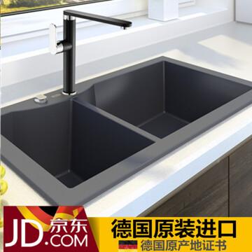 granite kitchen set modern cabinet hardware luccio 德国原装进口 石英石水槽黑色花岗岩水槽厨房手工槽洗菜盆单槽