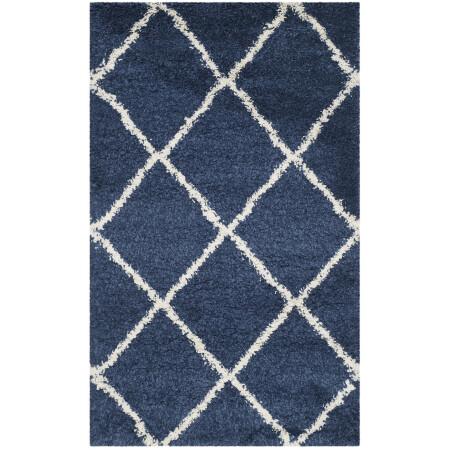 navy blue kitchen rugs remodeling ideas on a budget 美国直邮safavieh 哈德逊amias几何粗毛面积地毯或赛跑者海军蓝 象牙 哈德逊amias几何粗毛面积地毯或赛跑者海军