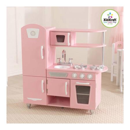 kidkraft toy kitchen iskand 美国直邮kidkraft 儿童式模拟家具类玩具老式木制厨房粉红色53347 3 7 儿童式模拟家具类玩具老式木制厨房粉红色