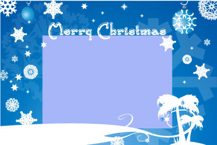 Blue Christmas Card Template By Harlanm On DeviantArt
