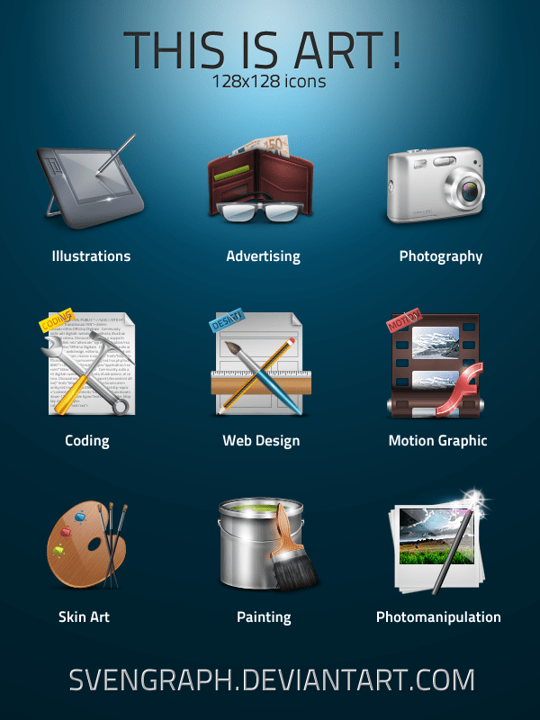 3d Wallpaper Making Software Free Download This Is Art Icons By Svengraph On Deviantart