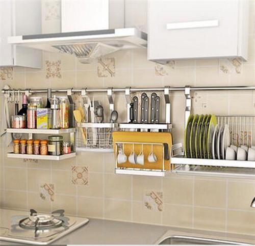kitchen basket green accessories 厨房挂件置物架图片 厨房置物架有什么优点-重庆装修-重庆房天下