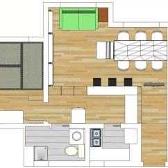 Cheap Kitchen Remodels Nj Cabinets 便宜的35平米小房型日式北欧混搭风二次装修 房产资讯 房天下 一个一室一厅使用面积35平方的小房子 厨房更是小得可爱 处于预算考虑不能彻底改造厨房 只有在客厅定制一个厨吧台作为厨房的延伸