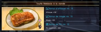 Final Fantasy XV tourte meldacio à la viande