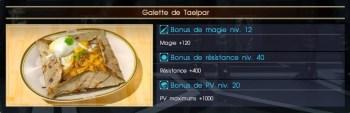 Final Fantasy XV galette de Taelpar