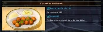 Final Fantasy XV croquettes kwéh-kwéh