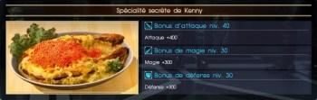 Final Fantasy XV spécialité secrète de kenny
