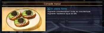 Final Fantasy XV canapés royaux