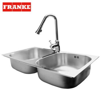 franke kitchen faucet sink spray hose 弗兰卡franke不锈钢水槽双槽厨房龙头套餐cnx620b 抽拉龙头ct2021c 单龙头