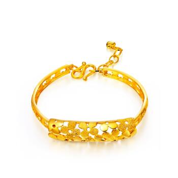 周大福 串串花朵 黃金手鐲(工費:168 計價)F4730 千足金14.65g54mm價格(怎么樣)_易購手鐲比價頻道