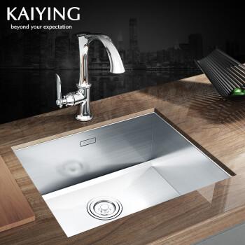 kitchen sink 33 x 22 3 piece faucet 任意2件9折 凯鹰厨房水槽单槽304不锈钢洗菜盆手工水槽409 r直角 图片 凯鹰厨房水槽单槽304不锈钢洗