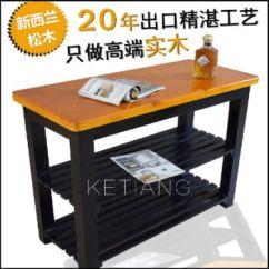 Kitchen Tables Sets Countertop Shelf 厨房实木切菜桌子料理台操作台储物桌家用餐桌子多功能桌一套80x45x80双层 厨房实木切菜桌子料理台操作台储物桌家用餐桌子多