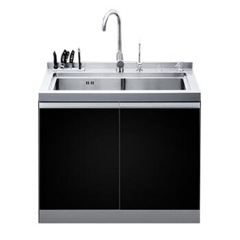 kitchen sink cabinets shelves yukida a1 厨房水槽柜一体式集成水槽嵌入式多功能不锈钢集成水槽双槽304 厨房水槽柜一体式集成水槽嵌入式多功能不锈钢集成水槽