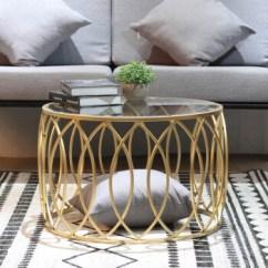 Round Glass Kitchen Table Coffee Rugs 北欧创意铁艺钢化玻璃茶几金色圆形透明桌子简约客厅小户型家具60 40金色 北欧创意铁艺钢化玻璃茶几金色圆形透明桌子简约客厅小户型家具