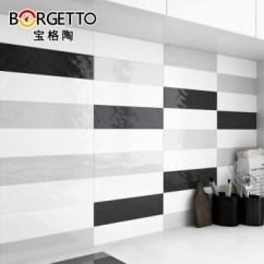 Gray Subway Tile Kitchen Air Gap 宝格陶纯色黑白灰瓷砖地铁砖75 300 厨房卫生间墙砖面包砖米色 亮面 长条 厨房卫生间墙砖