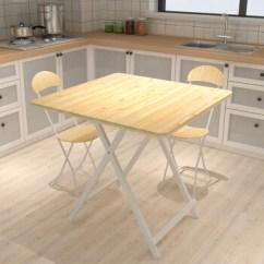 Circle Kitchen Table Countertops Cost 晾趣折叠桌餐桌饭桌家用简约现代方桌圆桌餐桌椅组合小户型厨房桌子靓丽白 晾趣折叠桌餐桌饭桌家用简约现代方桌圆桌餐桌椅组合小