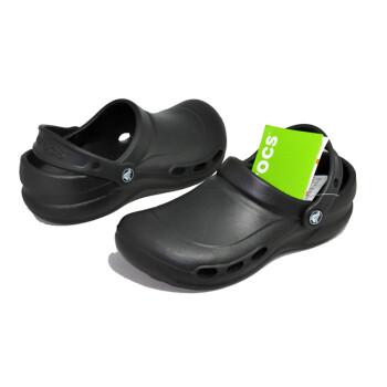 crocs kitchen shoes inexpensive backsplashes for kitchens 卡骆驰10074通风史贝款男女工作鞋厨房医院实验室专用黑色45 图片 卡骆驰10074通风史贝款男女工作鞋厨房医院实验室