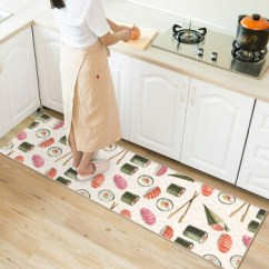 Cheap Kitchen Floor Mats Food Scale 厨房 厨房地垫长条寿司小碗家用防油防滑脚垫可手洗卧室地垫日式寿司支持 厨房地垫长条寿司小碗家用防油防滑脚