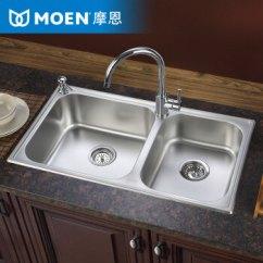 Moen Kitchen Storage Baskets 摩恩(moen)水槽双槽304不锈钢厨房洗菜盆水槽套装28121 配70211龙头套装【图片 价格 品牌 报价】-京东