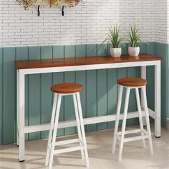 Tall Table And Chairs For Kitchen Corner Sink Cabinet 欧仕堂简约吧台桌餐桌家用靠墙吧台桌咖啡桌酒吧高脚桌子厨房架吧台白框 欧仕堂简约吧台桌餐桌家用靠墙吧台桌咖啡桌酒吧高脚桌子