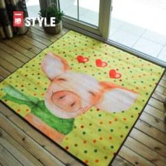 Large Kitchen Rug Model Kitchens 一橙中式田园风格客厅大地毯入门卧室厨房地毯粉色猪100cmx100cm 图片 图片价格品牌报价 京东
