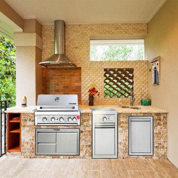 how much does an outdoor kitchen cost sink plumbing parts boweile波维乐户外厨房户外烧烤炉专属私人定制bvq8008订制方案2 图片 图片价格品牌报价 京东