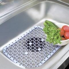 Kitchen Sink Mats Track Lighting 日本进口厨房水槽垫洗碗池垫下水器蔬菜水果沥水垫子水池过滤网白色 图片 日本进口厨房水槽垫洗碗池垫下水器蔬菜水果沥水垫子水池