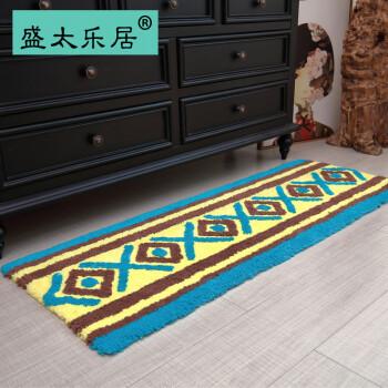 navy blue kitchen rugs sink 33x22 纯棉条地毯 品牌 纯棉条地毯牌子 图片大全 京东 民族风情地垫加厚手工全棉长条地毯厨房吸水吸油地