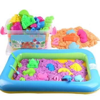rubbermaid kitchen trash cans rv sinks 彩泥太空沙玩具套装儿童宝宝粘土彩沙魔力沙橡皮泥沙子5斤桶装紫色 70个 彩泥太空沙玩具套装儿童宝宝粘土彩沙魔力沙橡皮泥沙