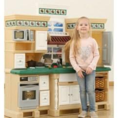 American Plastic Toys Custom Kitchen Roll About Cart 高端美国step2幼儿童大型厨房男女孩过家家室内仿真做饭玩具套装定制豪华 高端美国step2幼儿童大型厨房男女孩过家家室内仿真做饭