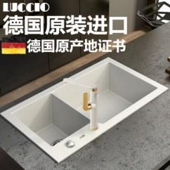 Granite Kitchen Set Consumers And Bath Reviews Luccio 德国原装进口石英石水槽白色花岗岩水槽厨房手工槽洗菜盆单槽套装