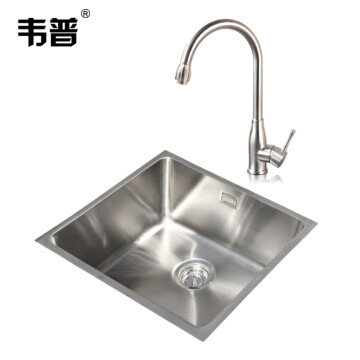 square kitchen sink food storage 韦普304不锈钢方形厨房水槽房台下洗菜盆洗碗池水槽套餐大单槽茶水间吧台 韦普