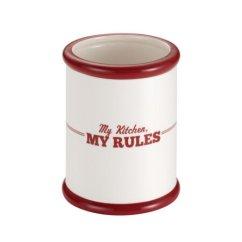 Kitchen Crocks Art Prints 美国直邮cake Boss 台面配件陶瓷工具缸 奶油与红色 我的厨房 我的规则 我