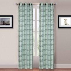 Grommet Kitchen Curtains Tier 美国直邮somerset Home 卡特里娜索环窗帘面板 2套蓝色 Blue 图片价格 2套蓝