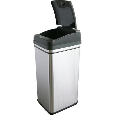 13 gallon kitchen trash can cabinets newark nj 美国直邮itouchless垃圾桶除臭过滤红外线传感器自动无尘垃圾桶 13加仑